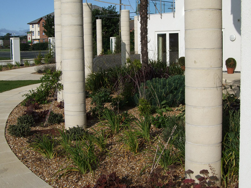 Mediterranean garden west auckland leeming associates for Landscape design west auckland